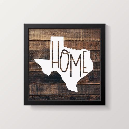 Home-Texas Wood Print