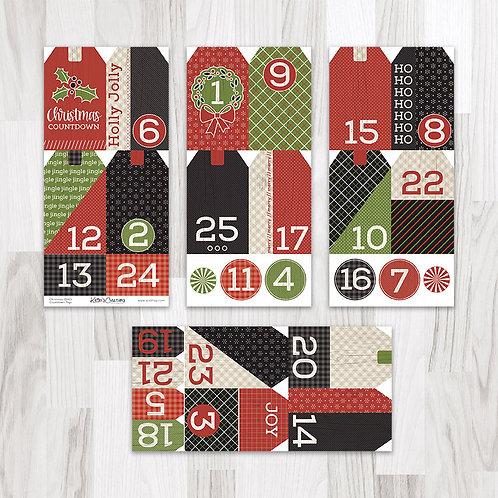 Christmas (Down Home Christmas) Countdown Tags
