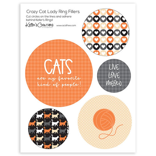 Crazy Cat Lady Ring Fillers