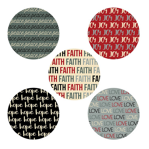 Faith 2-inch Circles