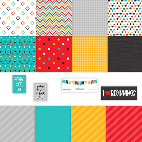 New Beginnings 4x4 Fun Sheets