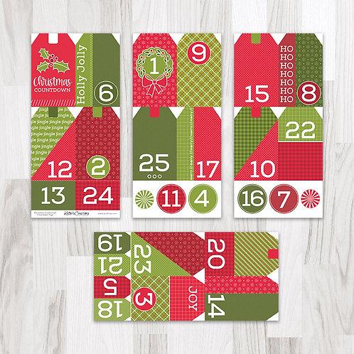 Christmas (Traditional) Countdown Tags