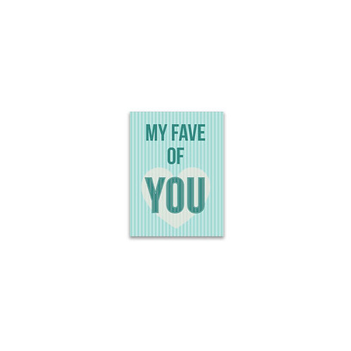 My Fave of You Flash Card