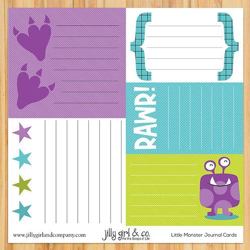 Little Monster Journal Cards