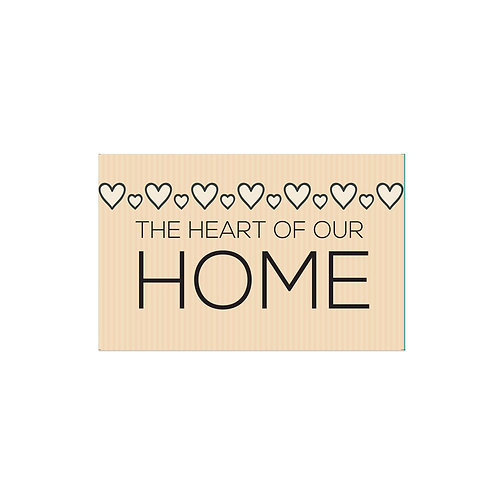 The Heart of Our Home Flash Card -4x6