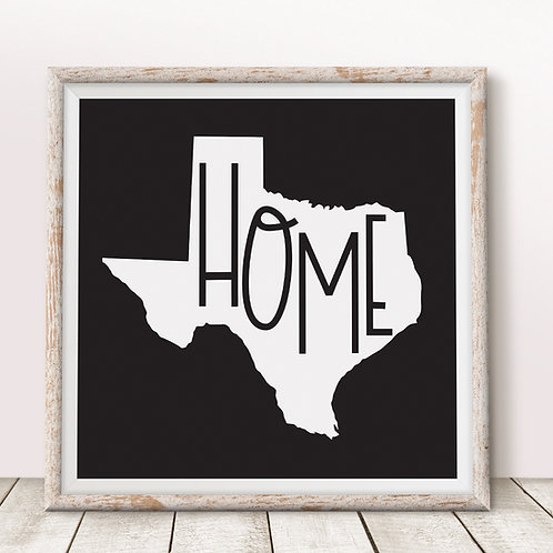 Home-Texas Black Print