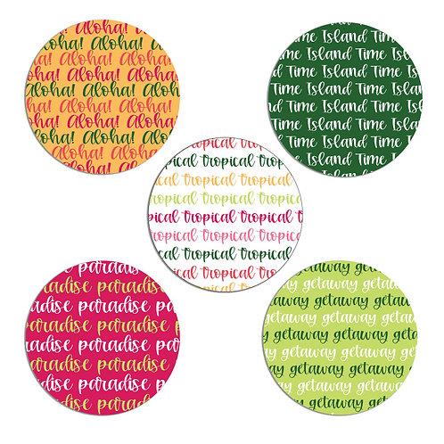 Tropical 2-inch Circles