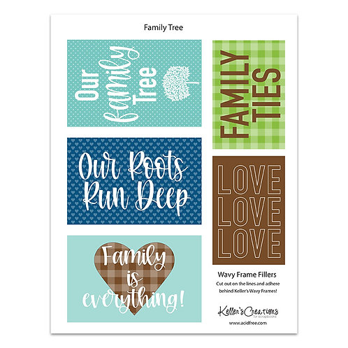 Family Tree- Wavy Frame Fillers