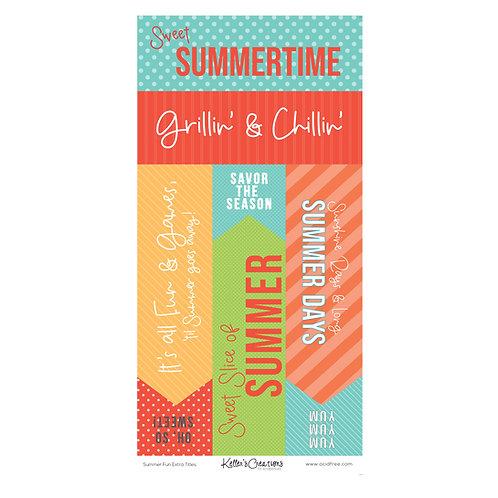 Summer Fun Extra Titles