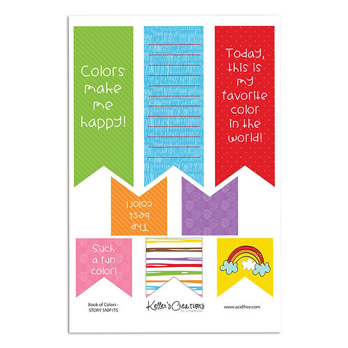 My Book of Colors Snip Its (Story Tag)