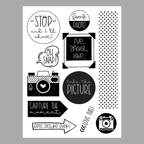 Oh Snap 6x8 Stamp Set
