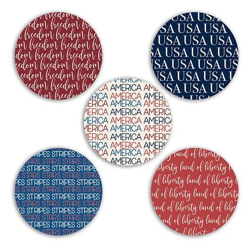 USA 2-inch Circles