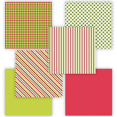 Merry & Bright 6 x 6 Fun Sheets