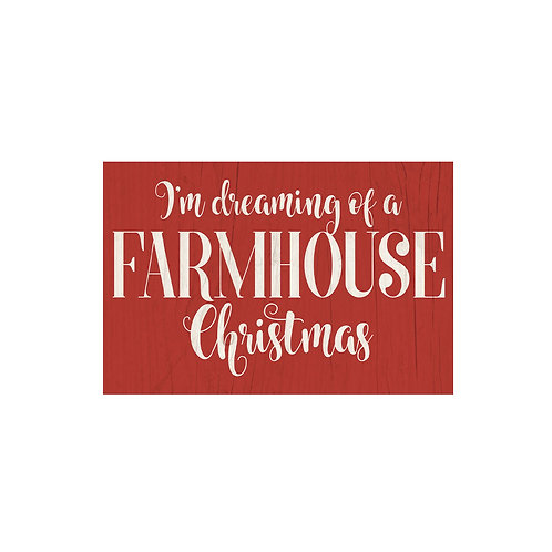 I'm Dreaming of a Farmhouse Christmas Flash Card