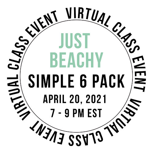 Just Beachy Simple 6 Pack Class Box