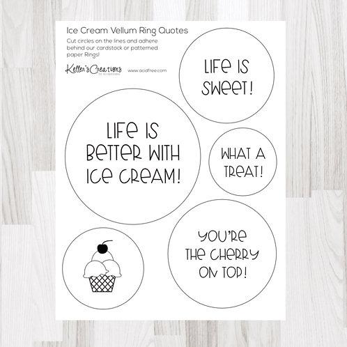 Ice Cream Ring Quotes