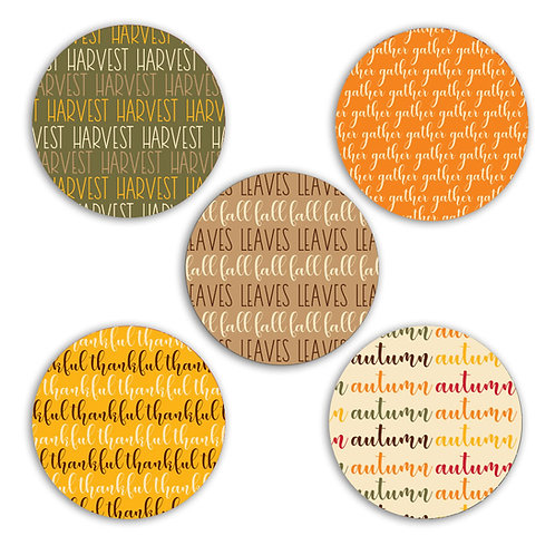 Fall Harvest 2-inch Circles