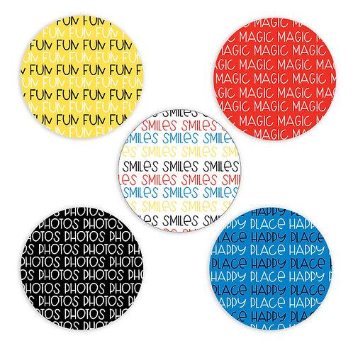 Magic- 2-inch Word Circles