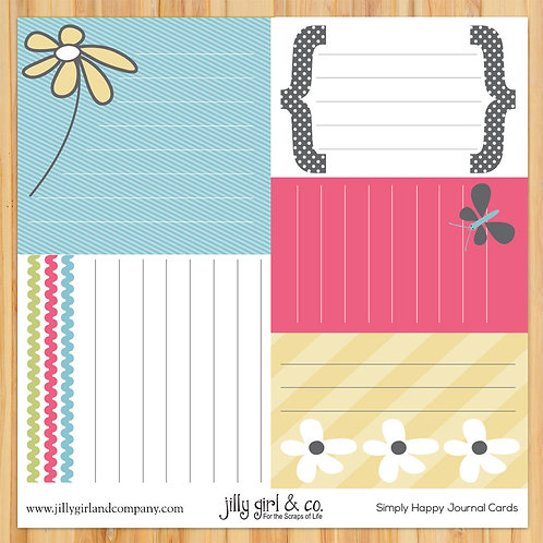Simply Happy Journal Cards