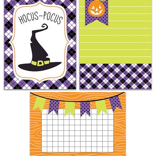 Hocus Pocus- Journal It Fast Cards