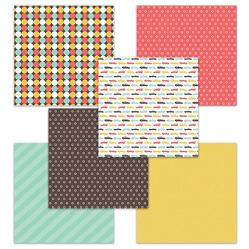 Road Trip 6 x 6 Fun Sheets