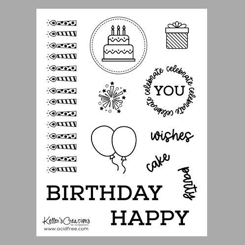Happy Birthday 6x8 Stamp Set