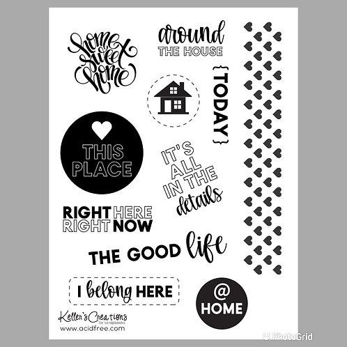Home 6x8 Stamp Set