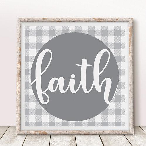Faith (Gray) Print