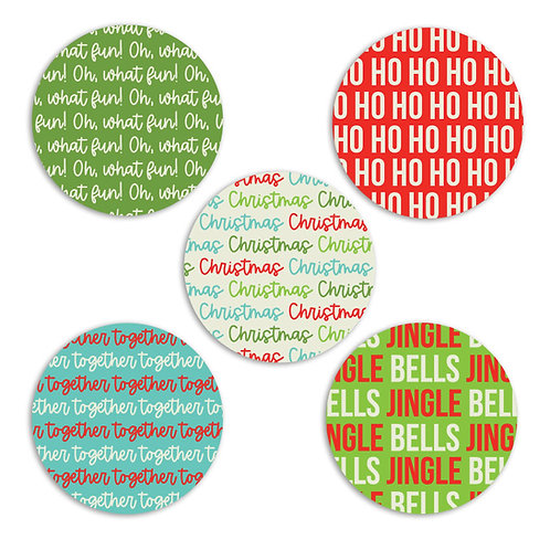 ABC's of Christmas 2-inch Word Circles