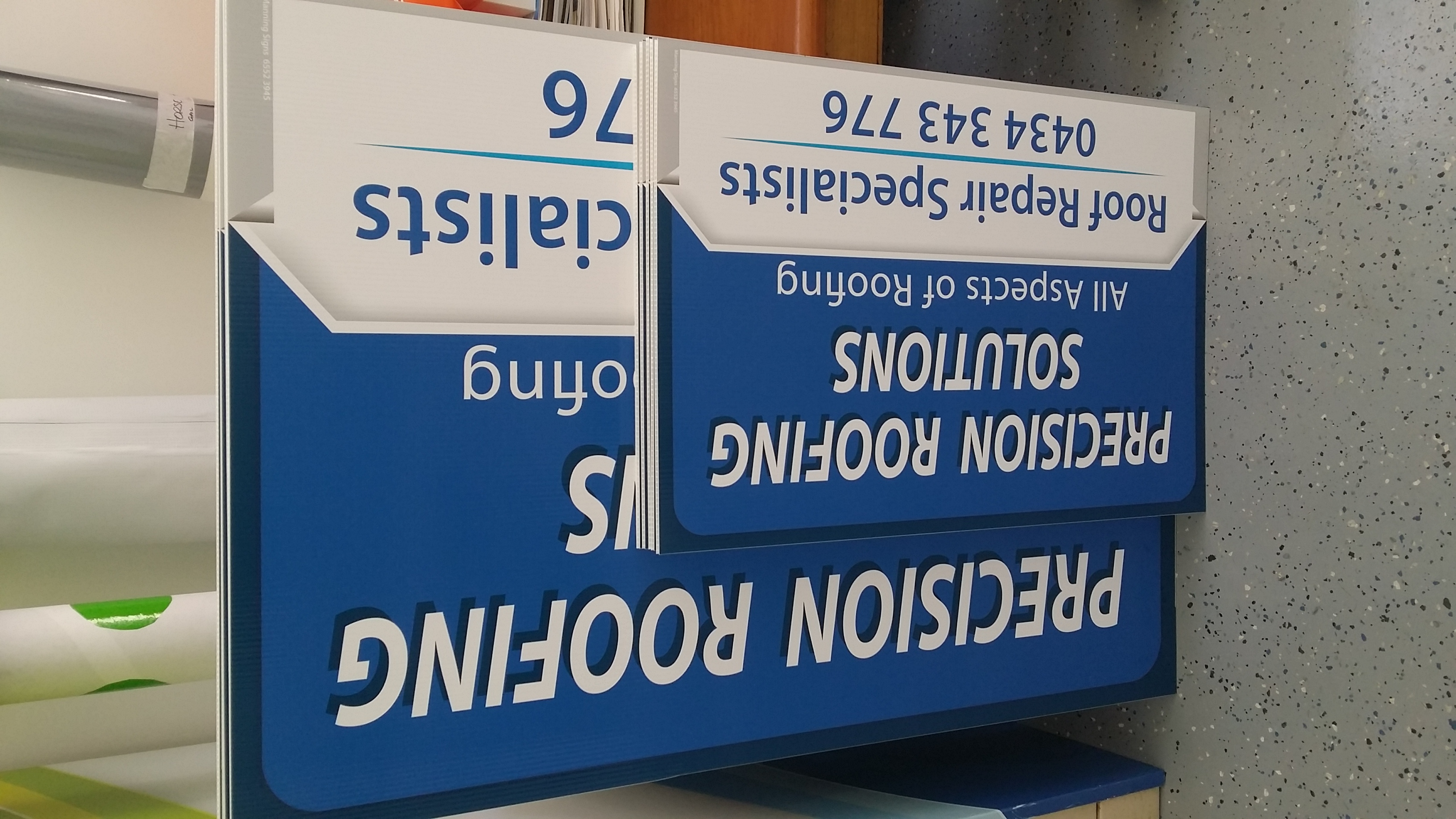 Corflute Site Signs
