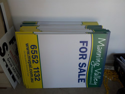 Real Estate Corflute Sale Signs
