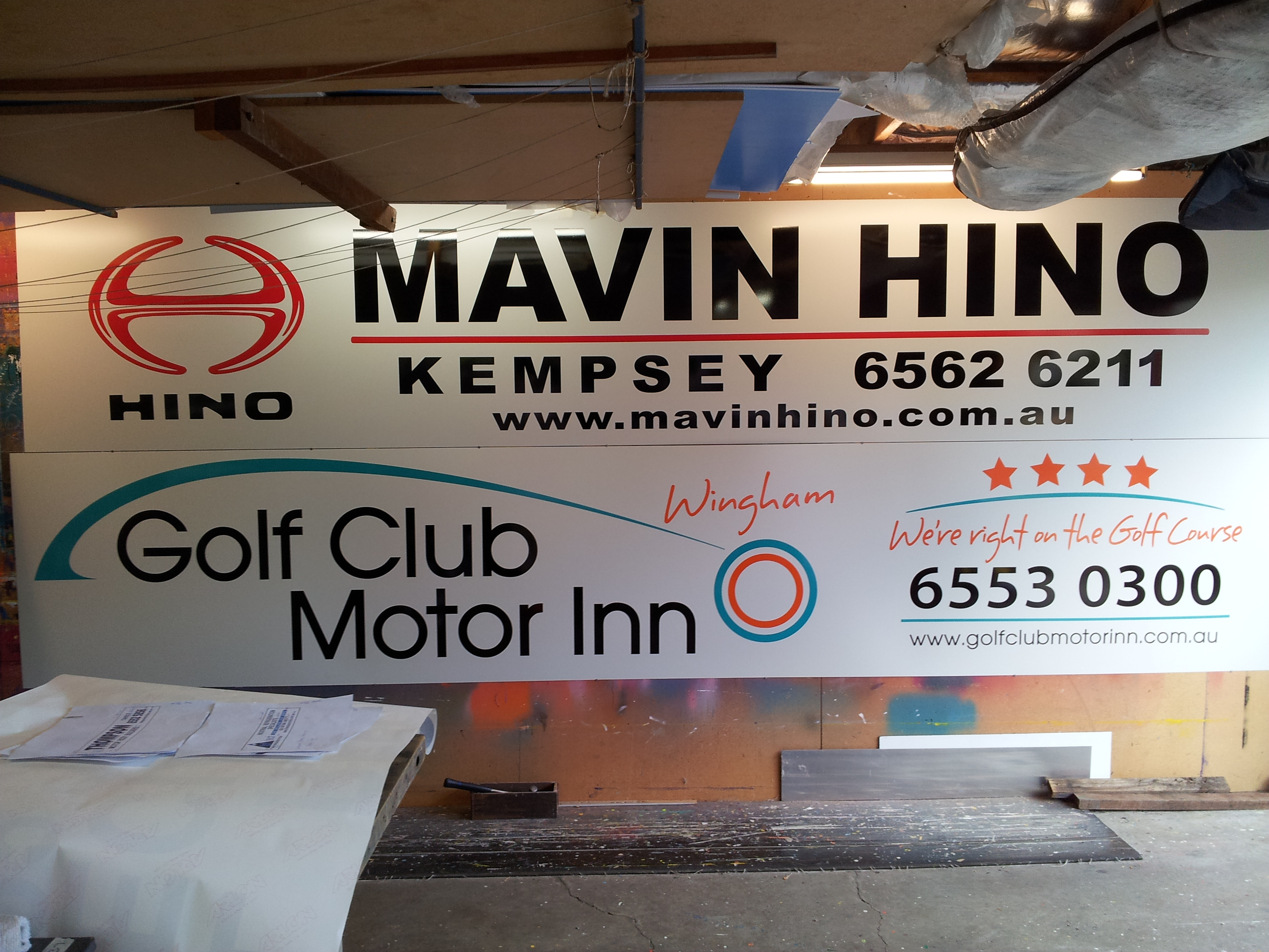 Wingham Tigers Ground Signage - Manning Signs