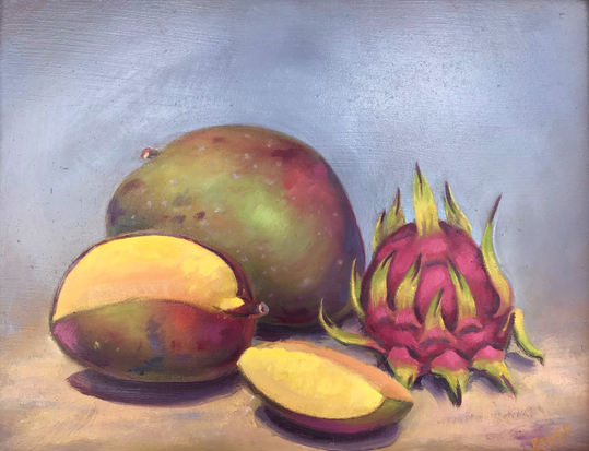 Mango and Dragonfruit