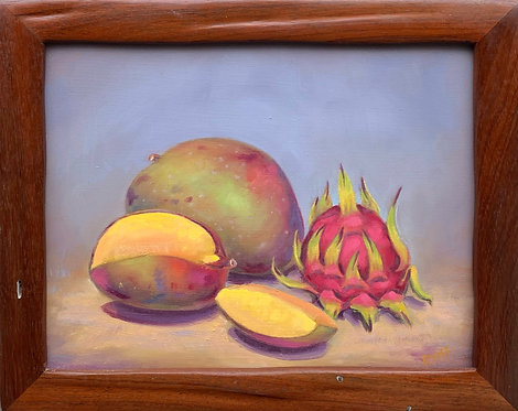 Mangos with Dragon Fruit