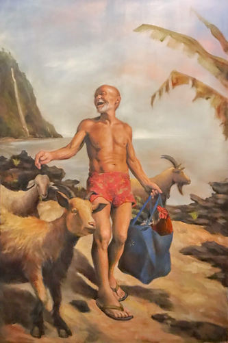 Blind Shepard  4' x 6'  Oil on canvas Sold