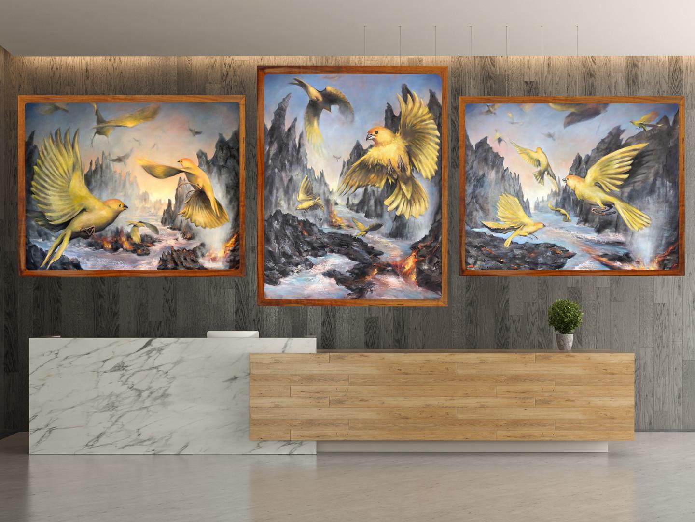 Kilauea Triptych