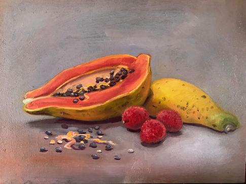 Papaya with Lychee
