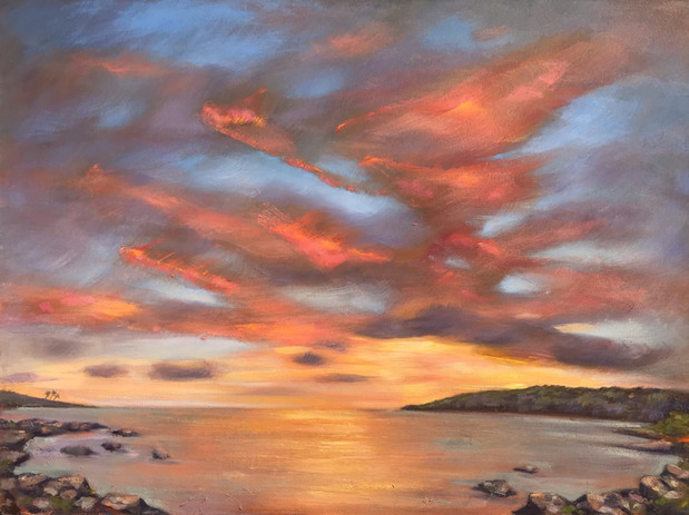 Ke'ei Sunset Plein Air