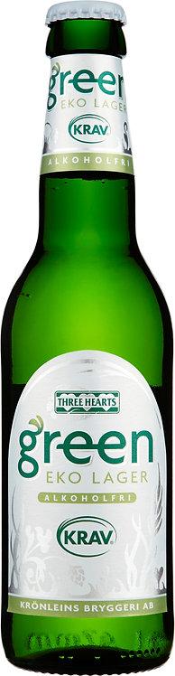Three Hearts Green Eko Lager Alkoholfri 33cl