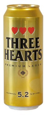 Three Hearts Premium Lager 5.2% 50cl