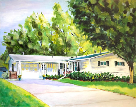 Home Portrait Acrylic on Canvas 2020