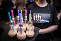 Bubble Tea Served in Lightbulbs