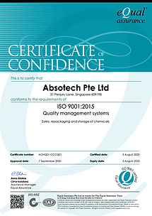 AOHQ01-CCCQ01 Certificate of Confidence