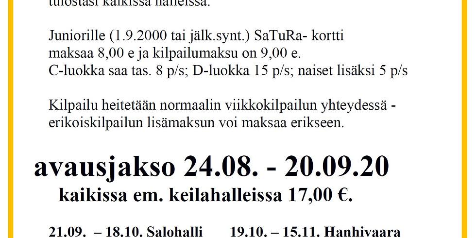 SaTuRa Parainen 26.04. - 23.05. Yhteisjakso kaikki hallit