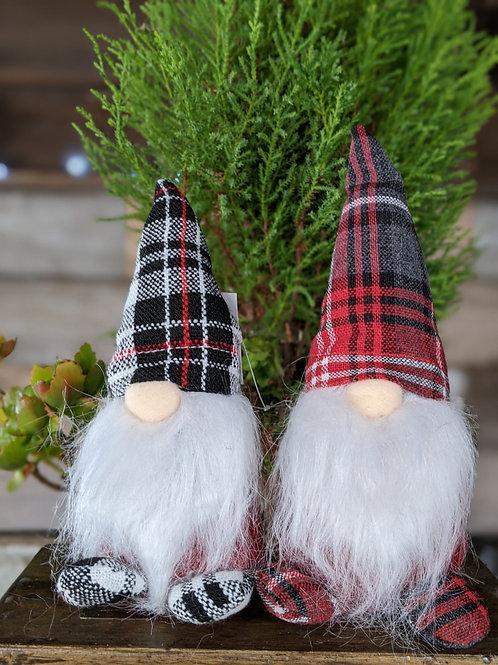 """7.5"""" Plaid Christmas Gnome"""