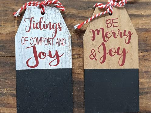 Wood & Chalkboard Gift Tags