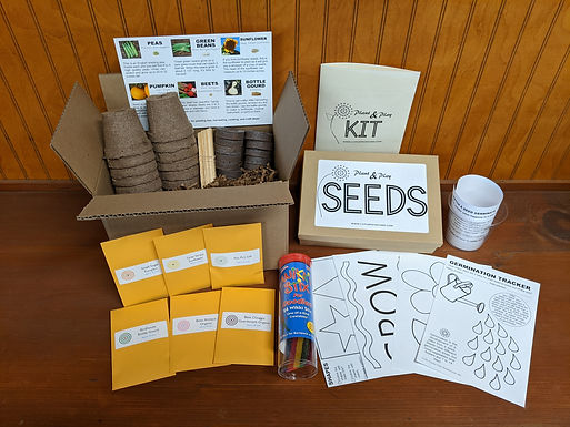 Plant & Play Kit for Kids with Personalized Message
