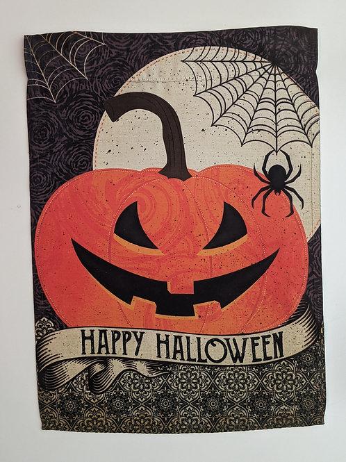 Happy Halloween Garden Suede Flag