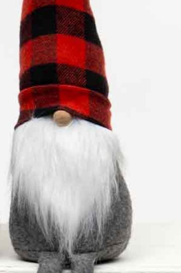 Gnome with Buffalo Plaid Hat