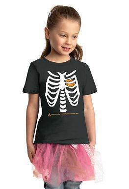 Skeleton Pumpkin Heart Toddler & Youth T-shirt